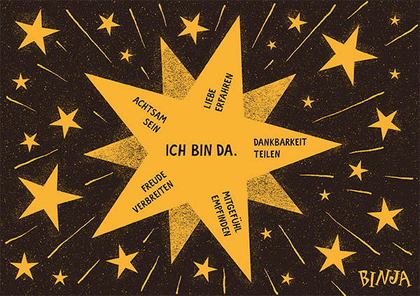 Binja Achtsamkeitsstern (PDF, A4) – Free